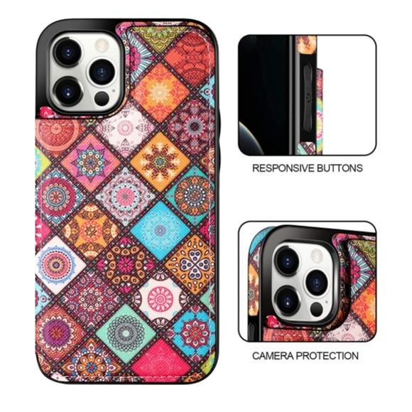 NEW Boho iPhone 12 Pro Max Wallet Flip Case